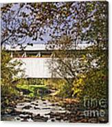 Ryot Covered Bridge And Stream Canvas Print