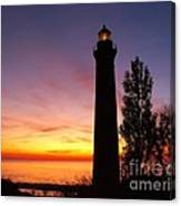 Sable Point Sunset Canvas Print