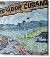 Sabor Cubano Canvas Print