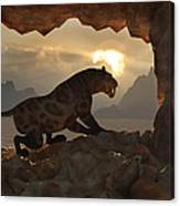 Sabre-tooth Cave. Canvas Print