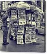 Sabrett Vendor New York City Canvas Print