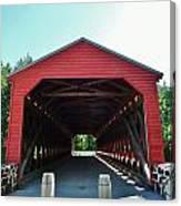 Sachs Covered Bridge 3 Canvas Print