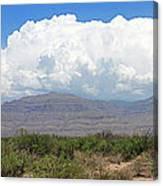 Sacramento Mountains Storm Clouds Canvas Print
