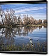 Sacramento Wildlife Refuge Pond With Blue Heron Canvas Print