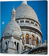 Sacre-coeur And Moon Canvas Print