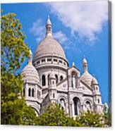 Sacre Coeur Basilica Paris France Canvas Print