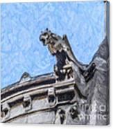 Sacre Coeur Gargoyle Canvas Print