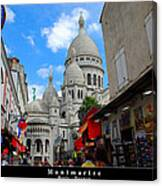 Sacre Coeur In Montmartre Canvas Print