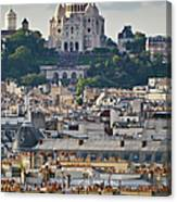 Sacre Coeur Over Rooftops Canvas Print