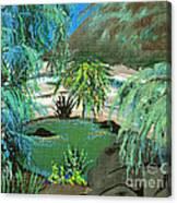 Sacred Cenote At Chichen Itza Canvas Print
