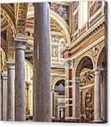Sacred Heart Of Jesus Church Rome Italy Canvas Print
