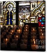 Sacred Heart Prayer Candles Canvas Print
