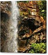 Sacred Waterfall Of Tropical Forest Canvas Print