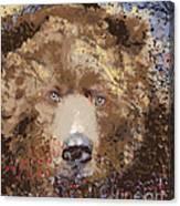 Sad Brown Bear Canvas Print