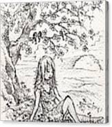 Sad Little Girl Canvas Print