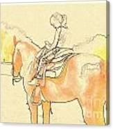 Saddle Break Canvas Print