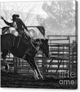 Saddle Bronc Riding Canvas Print