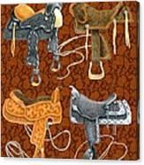 Saddle Leather Canvas Print