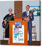 Sadie And Lawrence Sing For Jesus Canvas Print