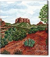 Sadona Two Mountains Canvas Print