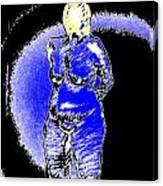 Safe Blue Woman Canvas Print
