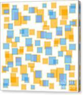 Saffron Yellow And Azure Blue Canvas Print