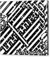 Sagittarius Maze  Canvas Print