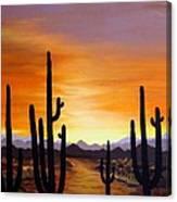 Saguaro Sunset Canvas Print