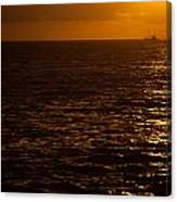 Sail Away In Sunset Canvas Print