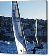 sail boat Penryn river Spring 2010 six Canvas Print