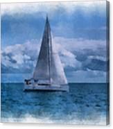 Sail Boat Photo Art 01 Canvas Print