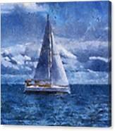 Sail Boat Photo Art 02 Canvas Print