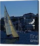 Sail Boat Racing Penryn River Five Spring 2010 Canvas Print