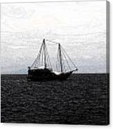 Sail In Black Sea- Viator's Agonism Canvas Print