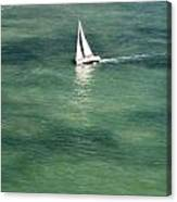 Sail On The Bay Canvas Print