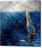 Sailboarding W Metal Canvas Print