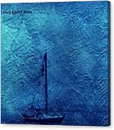 Sailboat As A Painting Canvas Print