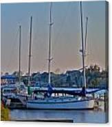 Sailboat At Sunset Canvas Print