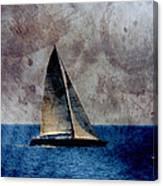 Sailboat Bird W Metal Canvas Print