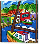 Sailboat In The Window Canvas Print