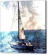 Sailboat Light W Metal Canvas Print