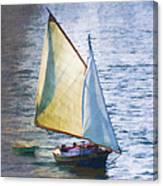 Sailboat Off Marthas Vineyard Massachusetts Canvas Print