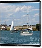 Sailboat On Lake Ontario Near Old Fort Niagara 2 Canvas Print