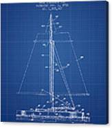 Sailboat Patent From 1932 - Blueprint Canvas Print