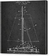 Sailboat Patent From 1932 - Dark Canvas Print