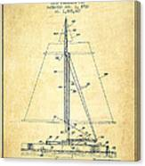 Sailboat Patent From 1932 - Vintage Canvas Print