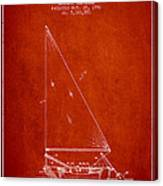Sailboat Patent From 1991- Red Canvas Print