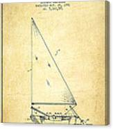 Sailboat Patent From 1991- Vintage Canvas Print