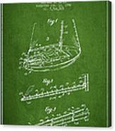 Sailboat Patent From 1996 - Green Canvas Print