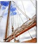 Sailboat Rigging Canvas Print